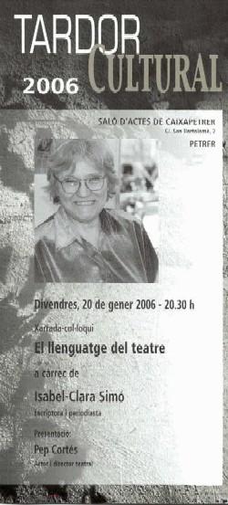 Conferència Isabel Clara Simó